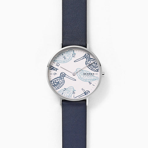 Aaren Blue Leather Watch