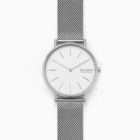 Signatur Silver Tone Steel Mesh Watch