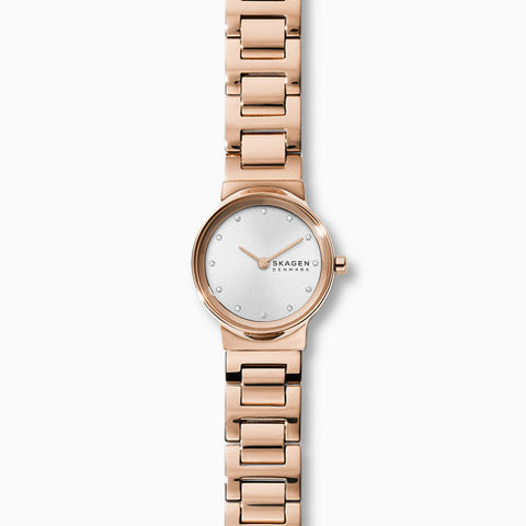Freja Rose Gold Tone Steel Link Watch