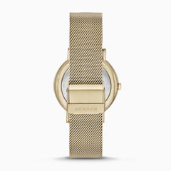 Signatur Gold Tone Steel Mesh Watch