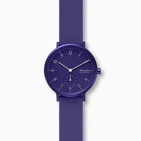 Aaren Kulor Purple Silicone 36mm Watch
