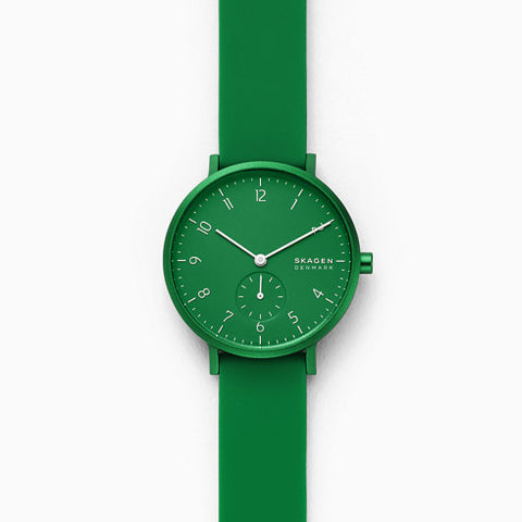 Aaren Kulor Green Silicone 36mm Watch