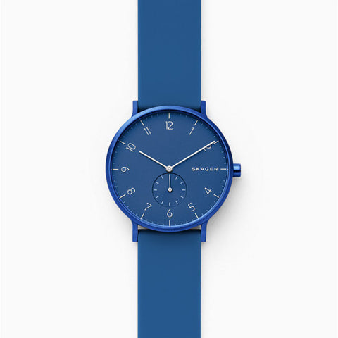 Aaren Kulor Blue Silicone 36mm Watch
