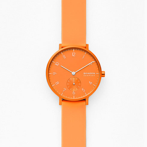 Aaren Kulor Neon Orange Silicone 36mm Watch