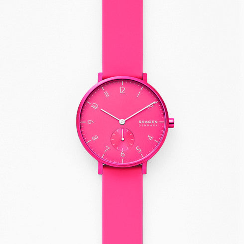 Aaren Kulor Neon Pink Silicone 36mm Watch