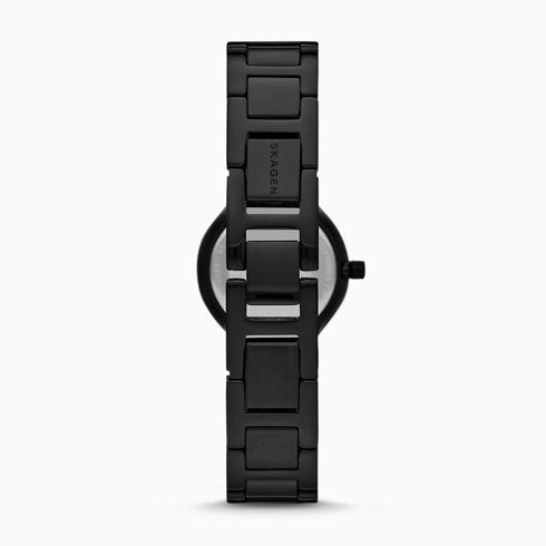 Freja Two Hand Black Stainless Steel Watch