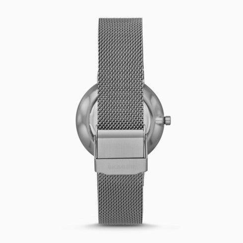 Annelie Two Hand Gray Steel Mesh Watch