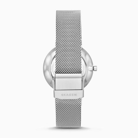Annelie Two Hand Silver Tone Steel Mesh Watch