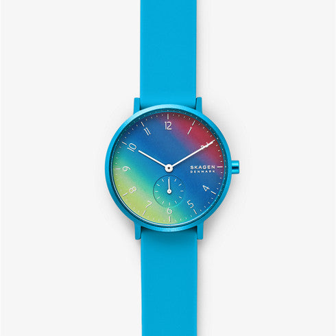 【NEW】Aaren Kulor Blue Tie Dye 36mm Silicone Watch