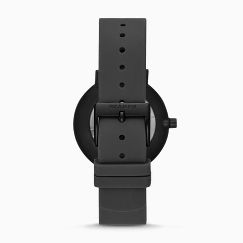 Aaren Kulor Black Ripple Silicone 36mm Watch