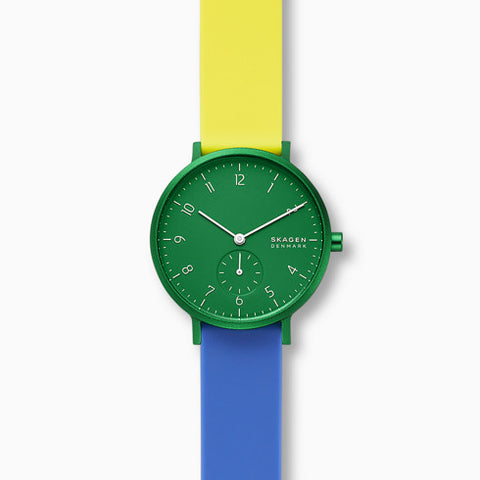 Aaren Kulor Color Blocked 36mm Watch Green Dial