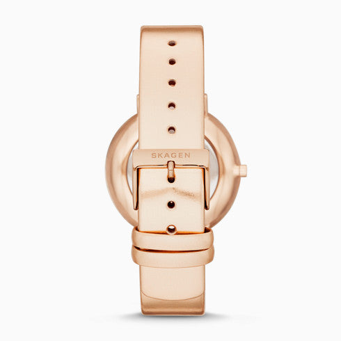 Aaren Kulor Two Hand Metallic Rose Leather 36mm Watch