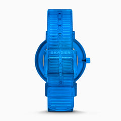 Aaren Transparent Three Hand Blue 36mm Watch