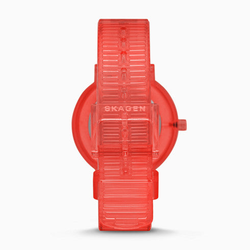 Aaren Transparent Three Hand Coral 36mm Watch