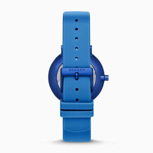Helmstedt x Skagen Aaren 36mm Three Hand Blue Silicone Watch