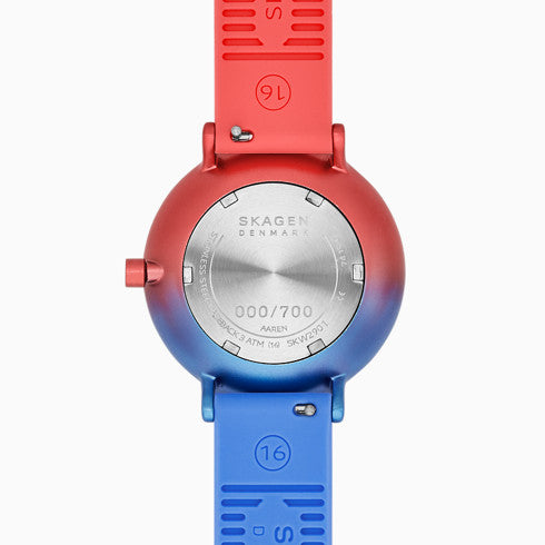 Aaren Ombre Three Hand Multi Colored Silicone 36mm Watch