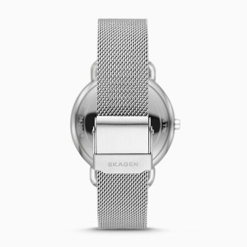 Horizont Multifunction Silver Tone Steel Mesh Watch