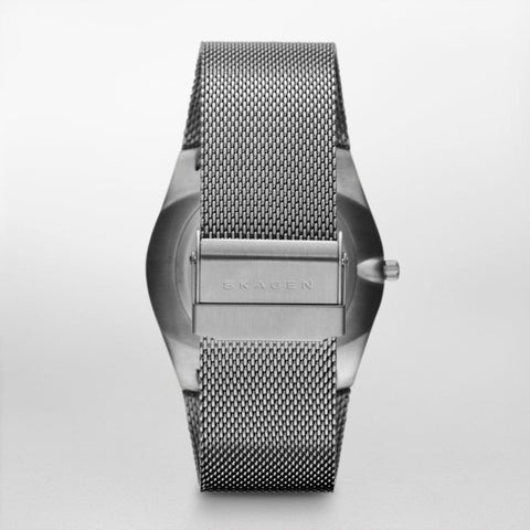 Melbye Steel Mesh and Titanium Case Multifunction Watch