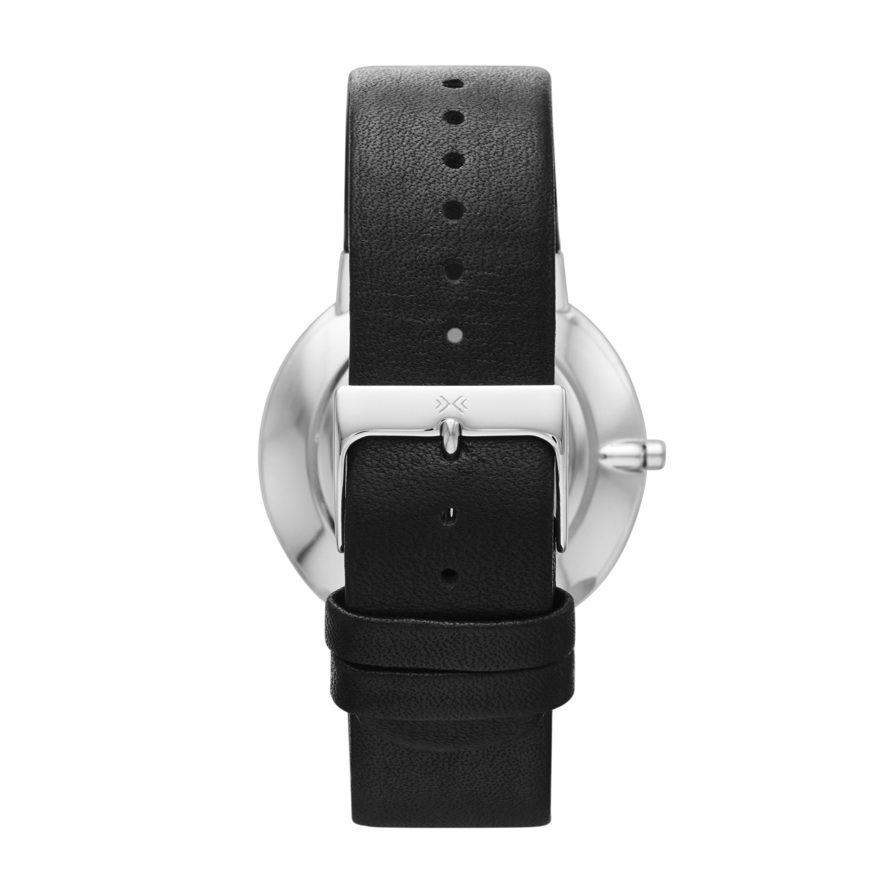 Ancher Black Leather Watch