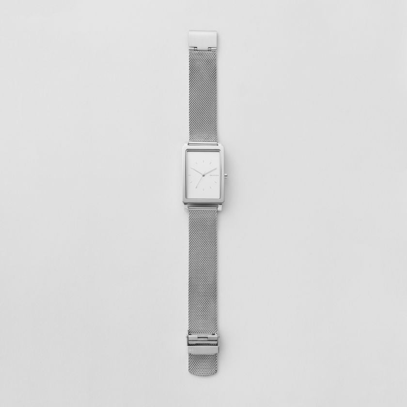 Hagen Rectangular Steel Mesh Watch