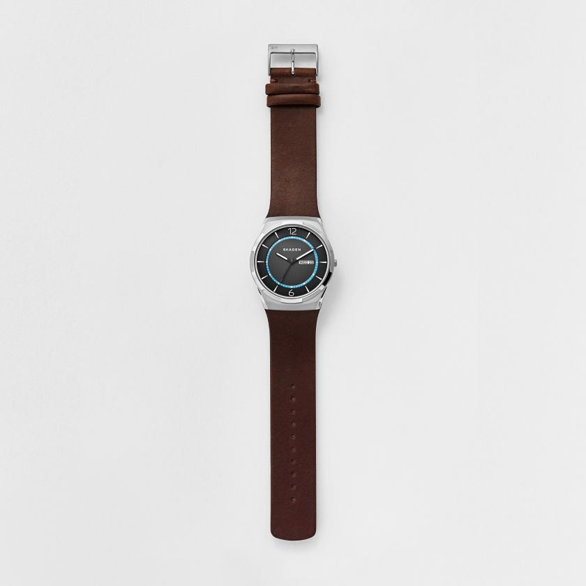 Melbye Titanium & Leather Watch