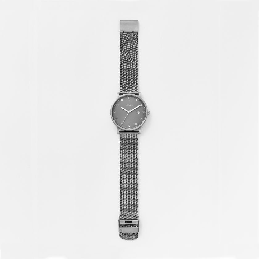 Hagen Titanium & Steel Mesh Watch