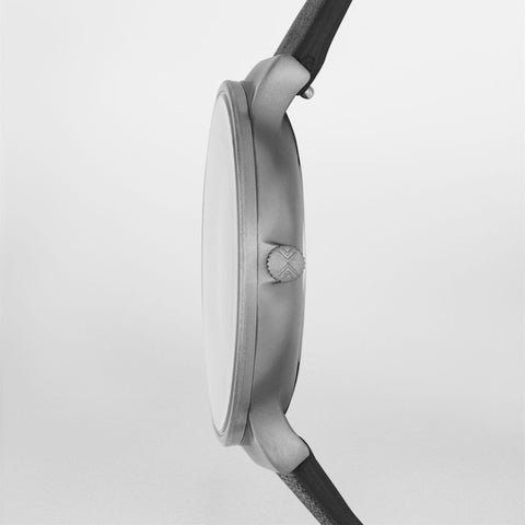 Ancher Titanium & Leather Watch