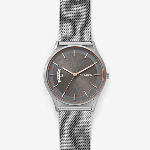 Holst Steel-Mesh Multifunction Watch