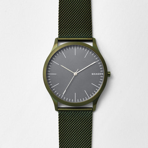 Jorn Green Steel-Mesh Watch