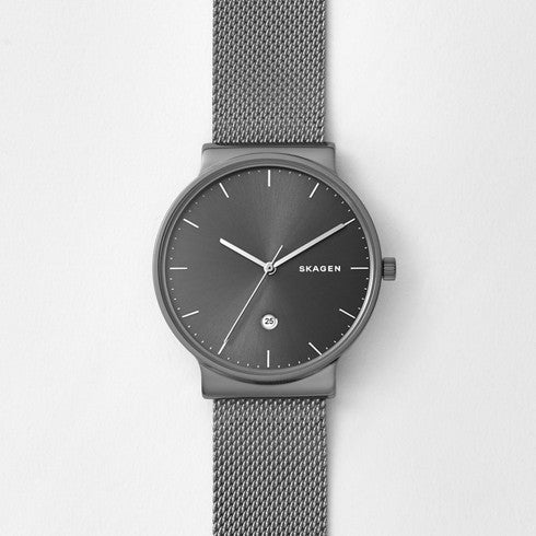 Ancher Titanium and Steel-Mesh Watch