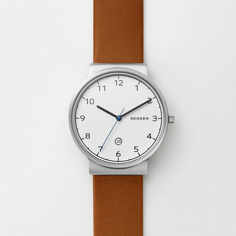 Ancher Cognac Leather Watch