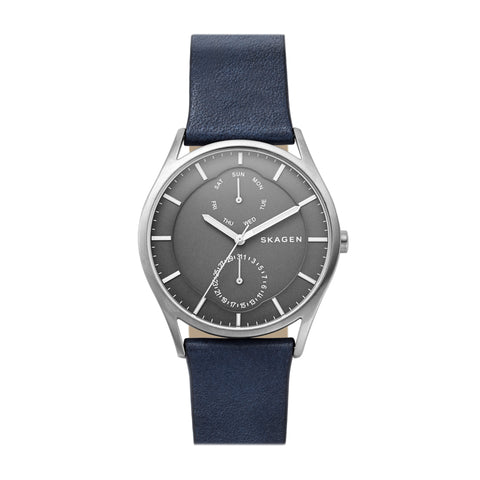 Holst Titanium and Blue Leather Multifunction