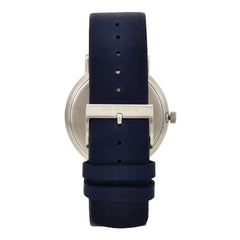 Signatur Solar Blue Leather Watch