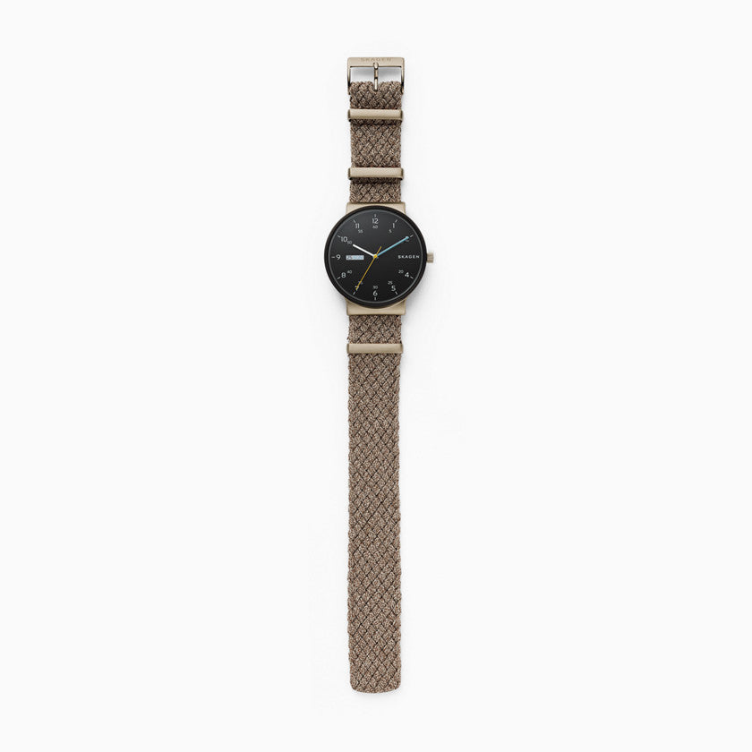 Ancher Beige NATO Day Date Watch