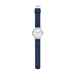 Ancher Blue Leather Day Date Watch