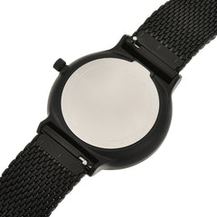 Ancher Black Steel Mesh Day Date Watch