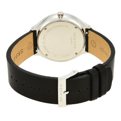 Grenen Slim Black Leather Watch