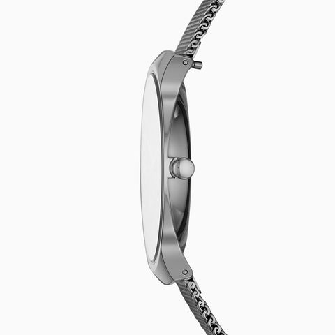 Grenen Slim Dark Gray Titanium and Steel-Mesh Watch