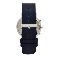 Signatur Navy Blue Leather Chronograph