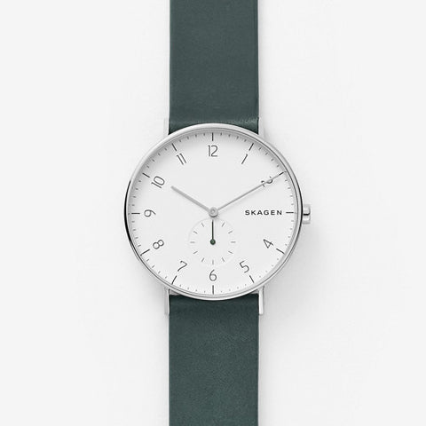 Aaren Green Leather Watch