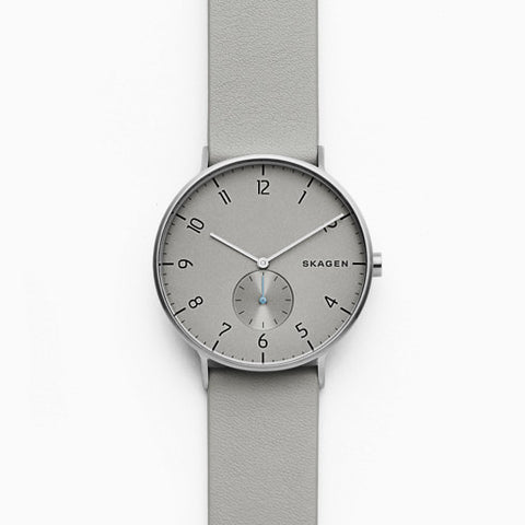 Aaren Gray Leather Watch