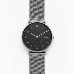 Aaren Dark Gray Steel Mesh Watch