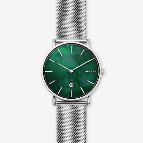 Hagen Mother of Pearl Steel Mesh Watch