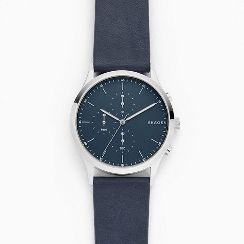 Jorn Blue Leather Chronograph