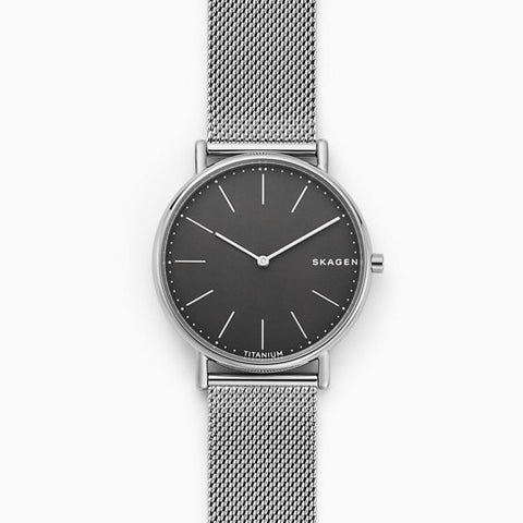 Signatur Slim Titanium and Steel Mesh Watch