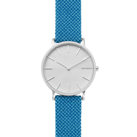 Hagen Slim Blue Recycled Woven Watch