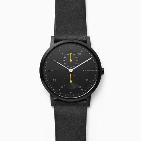 Kristoffer Black Leather Watch