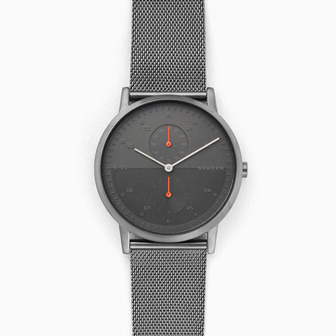 Kristoffer Gunmetal Steel Mesh Watch