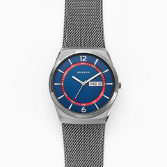 Melbye Gunmetal Steel Mesh Watch