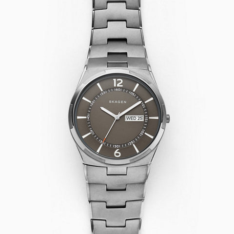 Melbye Gunmetal Steel Link Watch